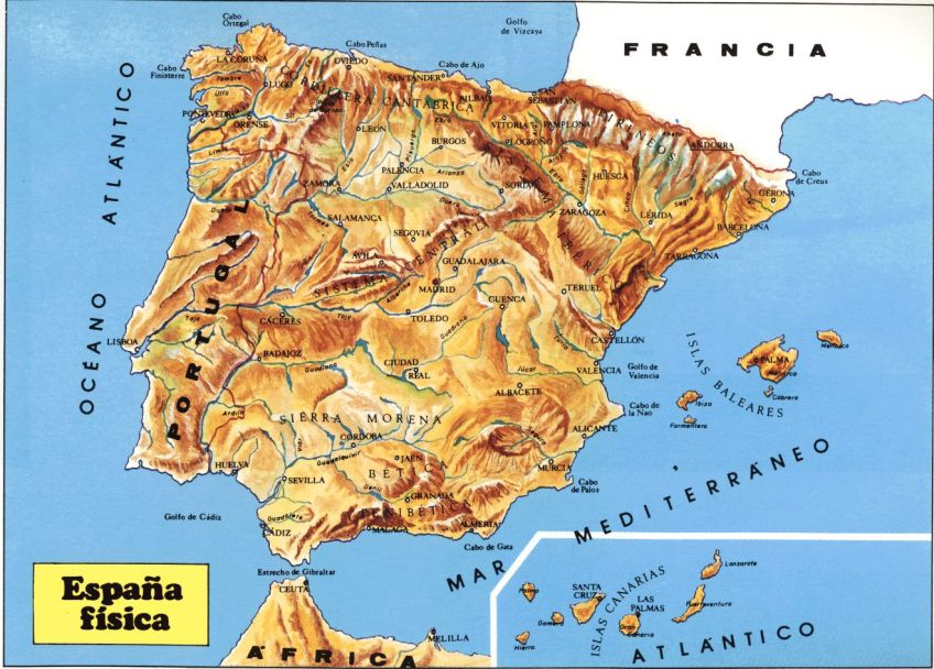 Map Of Spain Mountains.Spain Mountains Map Trailrunningspain Com