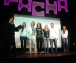 Ibiza Ultra Team 2012: Women´s ultra trail podium at Pacha disco.