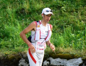 Kilian Jornet on his way to victory at UTMB 2011