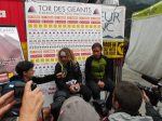 Oscar Perez Lopez and Gregoire Millet at Tor des Geants 2012 finish line