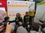 Oscar Perez Lopez and Gregoire Millet at Tor des Geants 2012 finish line
