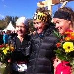 Course des templiers 2012 women podium Nuria Picas Emelie Frosberg Lizzy Hawker