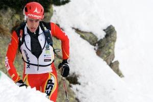 Kilian Jornet at Ski Mountaneering World Cup 2013 first race Ahrntal