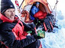 Jordi Tosas and Jordi Corominas perched at high camp