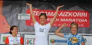 Zegama Aizkorri podio femenino foto org.