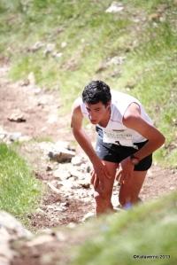 Kilian Jornet leading Zegama alpine marathon at Aizkorri