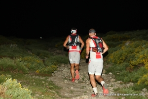 Pedro Bianco (final race winner) & Casey Morgan summit the first peak together