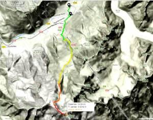 Kilian Jornet record mont blanc mapa