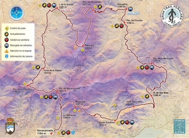 Recorrido Gran trail Peñalara 2013.