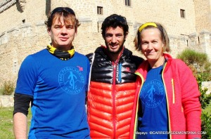 Our team, interviewing Kilian Jornet at Guadarrama National Park, after his records in 2013.