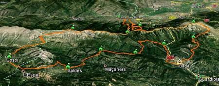 Ultra Pirineu 2013 Map: First year with 100k  course.