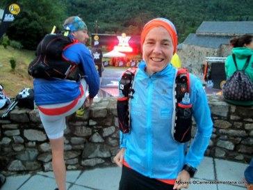 Julia Bottger en la salida de Buff Epic Trail 2014