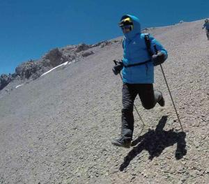 kilian jornet returning from first attempt at  aconcagua. Photo summits of my life