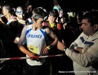 Xavier Thevenard, winner of UTMB-CCC-TDS at the start line.