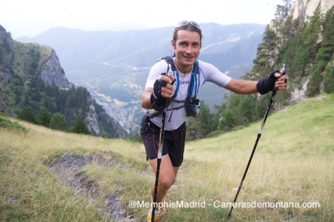 Oscar Pérez on his way to victory at Ultra trail Valls d´Aneu
