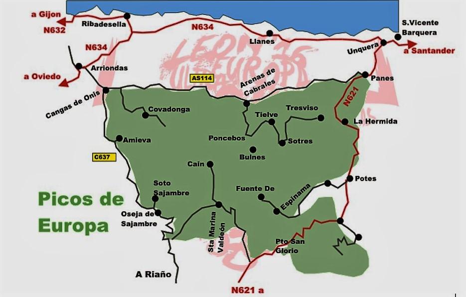 mapa picos da europa espanha PICOS DE EUROPA: OCHO LUNAS MULTISTAGE ULTRA TRAIL AT NATIONAL  mapa picos da europa espanha