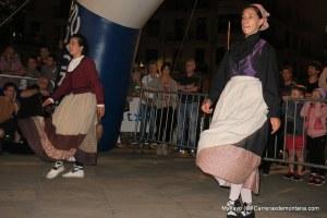 basque ceremonial aurresku dancers hail runners at the start