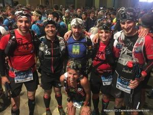 female 88km winner leire martinez & friends at the start