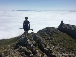 sea of clouds covers Goierri highlands from Aizkorri