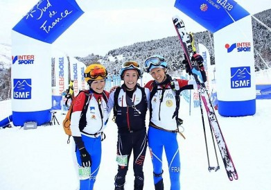 Roux, Mollaret and Matthys at finish line. Photo ISMF