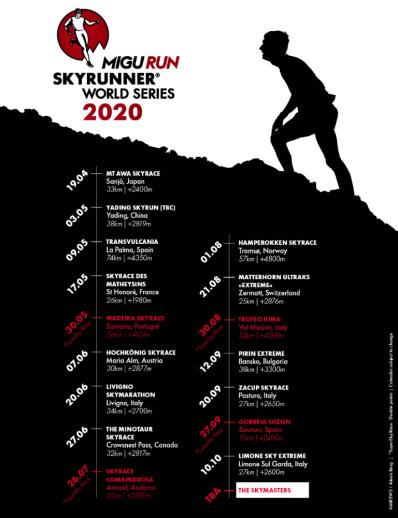 Calendrier World Tour 2020.Skyrunner World Series 2020 Calendar Race For 2020
